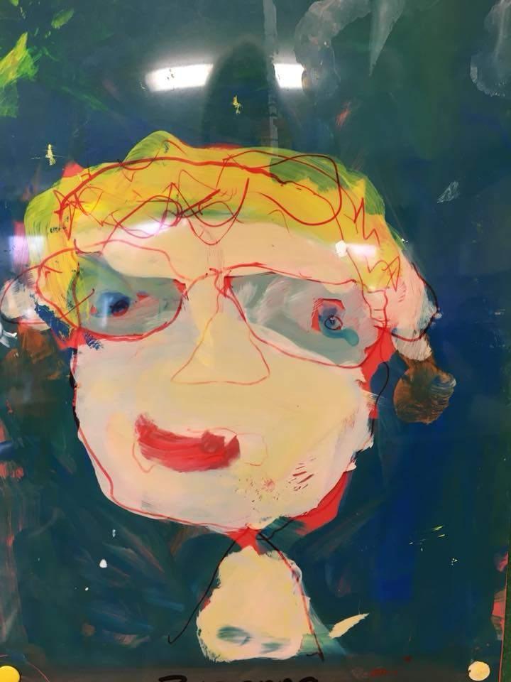 Portrait of teacher, junior infants Carrigduff NS, Artist Teacher Partnership CPD, 2018