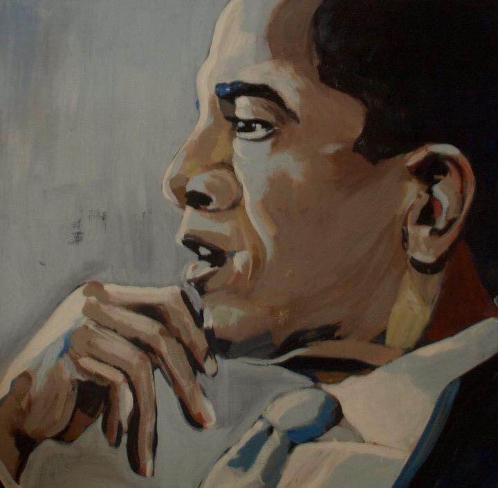 He looked so pensive I could almost see the thoughts going on in his head, or at least I imagined I could. Acrylic on Canvas, 90cm x 90cm, 2011
