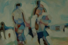 Beach Pilgrims, acrylic on Canvas, 53cm x 73cm, 2013
